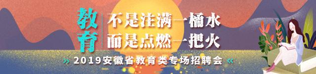 2019安徽省教育类专场招聘会 新安人才网